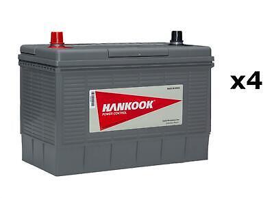 4x Hankook 12V 130Ah Batterie Décharge Lente Pour Caravane, Camping Car Bateau 2