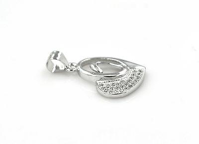 925 Silber Sterling Halskette Anhänger  Zirkonia Rhodiniert Herz Kette Edelstein