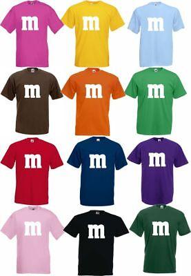 Für M&M Kostüm Fans MM T-Shirt Karneval Fasching Dart Gruppenkostüm Herren Damen 2