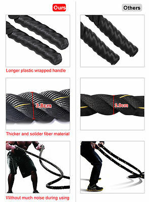 Battle Power Rope 38/50mm Battling Sport Bootcamp Gym  Exercise Fitness Training 2