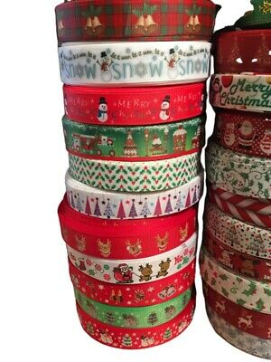 Christmas Ribbon Huge Selection! Happy Xmas! Sold by the meter 2