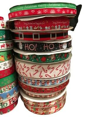 Christmas Ribbon Huge Selection! Happy Xmas! Sold by the meter 4