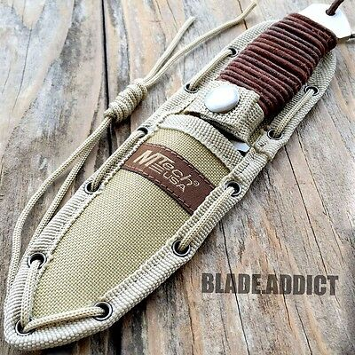 """8"""" MTECH Military SURVIVAL Tactical Fixed Blade Hunting Camping Knife + Sheath 5"""