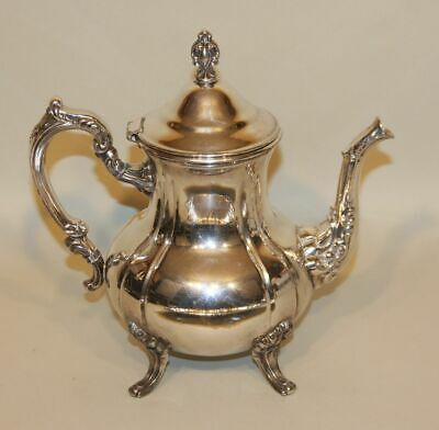 5 Pc Towle Louis Philippe Silverplate Tea Set Coffee Teapot Creamer Sugar & Tray 3