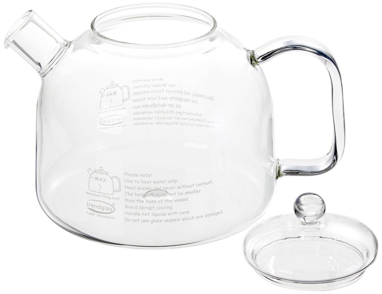 Trendglas Jena innovativer Wasserkocher aus Borosilikat Glas, 1,75 l