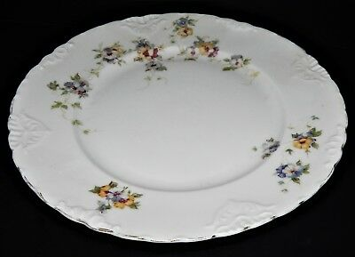 2 Herman Ohmne Silesia Germany China Dinner Plates Floral Pattern 140? Gold Trim 9