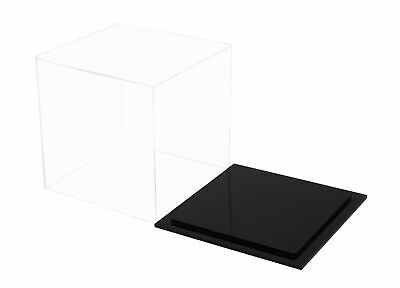 """Versatile Deluxe Clear Acrylic Table Top Display Case 8/"""" x 8/"""" x 20/"""" A085A"""