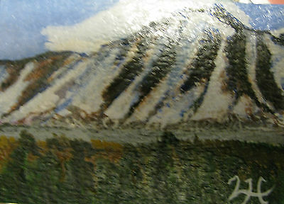 """A444 Original Acrylic Art Aceo Painting By Ljh One-Of-A-Kind """"Ireland Landscape"""" 6"""