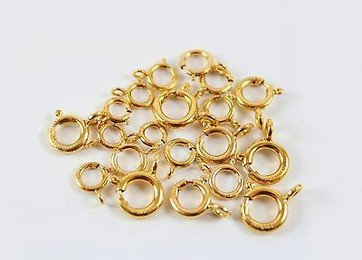 4.5mm SOLID New 18k Yellow Gold Spring Ring Clasp OPEN JewelryMaven MADE in USA