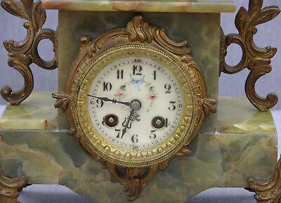 Imposing 19th Century Onyx Clock Garniture, Guillemain's Passage du gué, Japy 5