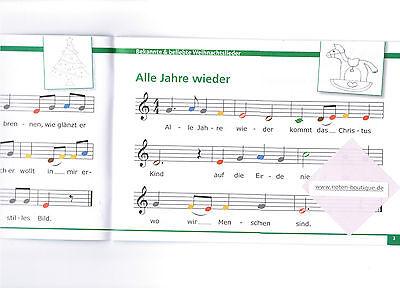 Weihnachtslieder Noten Für Glockenspiel.Glockenspiel Melodica Noten Meine Bunten Noten Weihnachtslieder Farben Anfänger