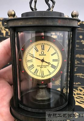 Asian collection of old handmade copper carved deer mechanical watch 6