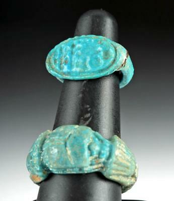 Lot of 2 Egyptian Faience Rings Lot 7A