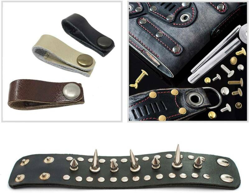 360 Stück Hohlnieten Set 6/8/12mm DIY Angebot Leder Nieten Ziernieten  NEU 6