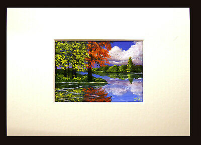 "Off-White Card Mount for ACEO paintings or prints (to fit 7"" x 5"" frame) 5"