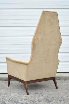 Astounding Mid Century Modern High Back Walnut Lounge Chair Adrian Forskolin Free Trial Chair Design Images Forskolin Free Trialorg