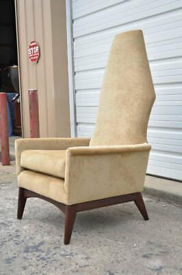 Superb Mid Century Modern High Back Walnut Lounge Chair Adrian Forskolin Free Trial Chair Design Images Forskolin Free Trialorg