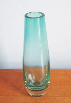 "Caithness Kingfisher Teal Vase 7 1/4"" Teardrop Shape Scotland Art Glass Vintage 2"