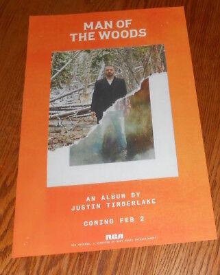 Justin Timberlake Man of the Woods Poster 2-Sided Promo Original 11x17 RARE 2