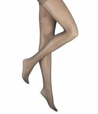 3 Pairs of 15 Denier Sheer Shiny Lustrous Tights NEARLY BLACK Medium