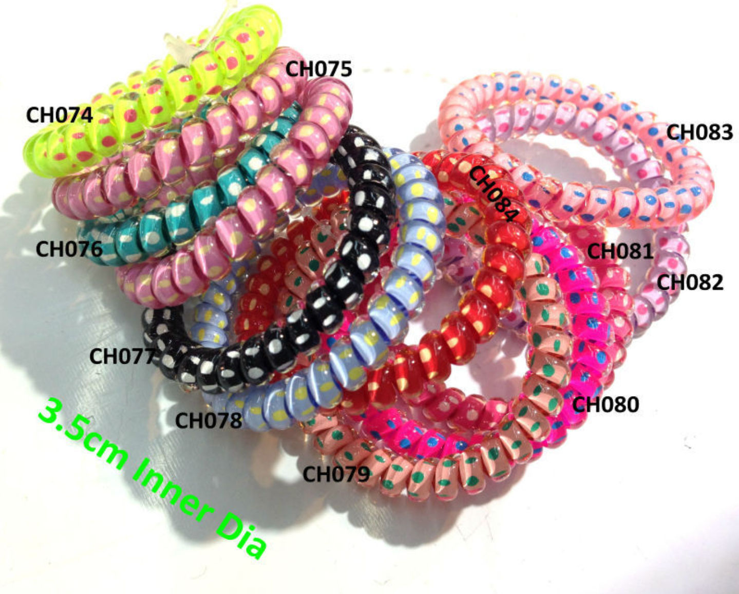Hair Bands Telephone Cable Kinderhaargummi Hair Accessories, Spiral Rubber