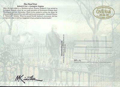 The Final Visit Robert E. Lee Lexington Virginia --- Military Civil War Postcard