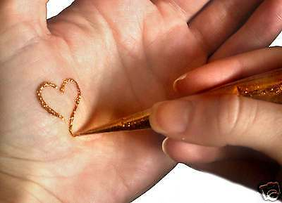 Henna Tattoo Kits Uk : Henna tattoo gift set mehndi kit gold glitter many designs