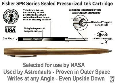 Fisher Space Pen #M4RAW / Raw Brass Cap-O-Matic Ballpoint Pen 5