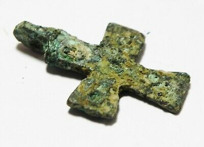 Zurqieh - As13514- Ancient Holy Land. Byzantine Bronze Cross. 800 - 1000 A.d 3