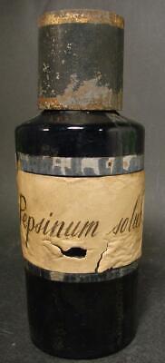 Kobaltblaue Apothekenflasche Pepsinum solub., Frankreich 19.Jh. Abriss. 5