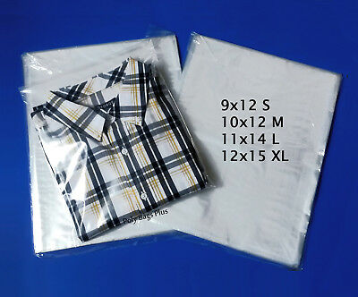 """18x24/"""" Clear Poly Plastic 1-Mil Bags T-Shirt Apparel Packaging Open Top Baggies"""