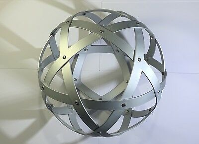 Genesa Pentasfera diametro 21 cm alluminio satinato argento profilo 1,5 cm 2