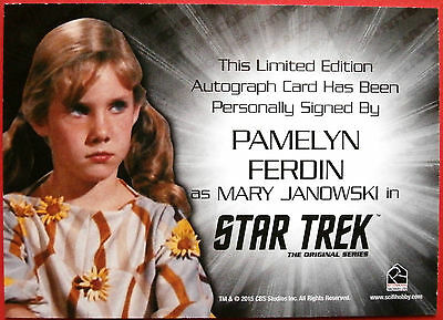STAR TREK TOS 50th PAMELYN FERDIN as Mary Janowski SILVER Autograph VERY LIMITED 2