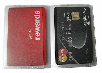 Replacement Credit Card Sleeve Inserts Portrait / Landscape All Sizes- 6, 12, 20 2
