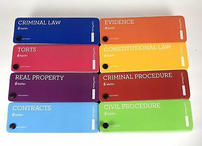 🆕✴❤ 2018 ~ 2019 Barbri Law Master Study Keys Bar Prep Flashcards ✔✴