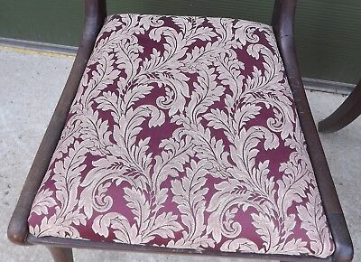 Set of 4 Antique Regency Mahogany Dining Chairs, One Carver, Need Restoration 6