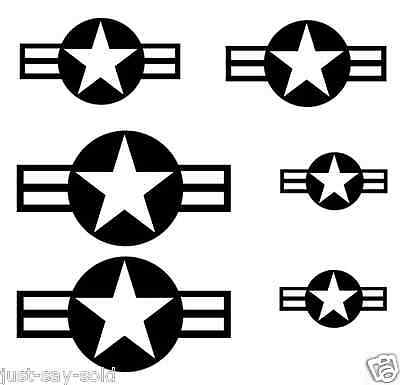 STARS AND BARS WWII Warbird Airplane RC - Vinyl Stickers Decals - Select  Color