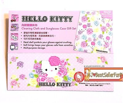 e4cd8dd28 ... Authentic Sanrio Eyeglass Sunglasses Hard Case Box Holder with Cleaning  Cloth 5