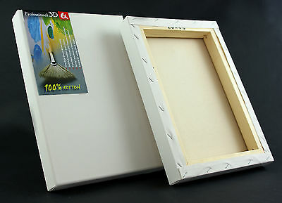 Canvas Artist Stretched Acrylic Primed Box Framed Cotton Art Craft Blank Chunky 3