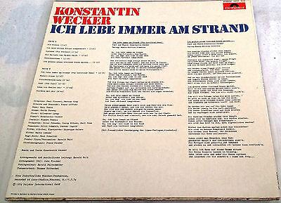 LP / Konstantin Wecker – Ich Lebe Immer Am Strand / sehr guter Zustand / Vinyl 2