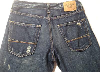 Abercrombie & Fitch Jeans BAXTER Indigo Destroy W28 L30 RRP $279 Mens or Boys 2