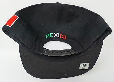MEXICO Snapback Cap Hat Mexican Eagle Aguila Flag Black Flat Bill Adult OSFM New