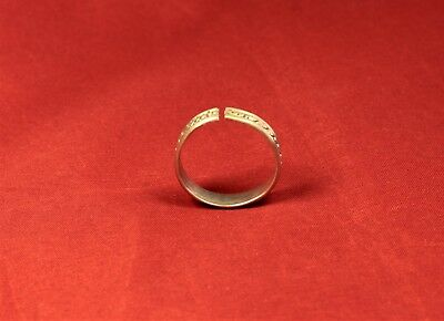 Post Medieval Silver Finger Ring 3