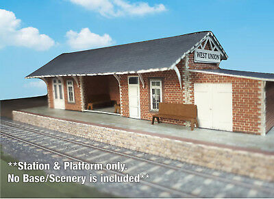 N Scale Building - Passenger Station (Cover Stock PRE-CUT Paper Kit) ST2 3