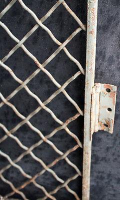"32""x79"" Vintage Old Steel Metal Fence Gate Door Panel Grille Industrial Factory 5"