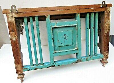 Reclaimed shabby chic Wooden Rack kitchen / bathroom lintel Wood top decor tile 8