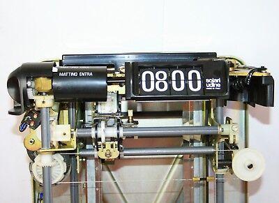 Vintage 1976 Fratelli Solari Udine Flap Clock Time Recorder New In Original Box 7