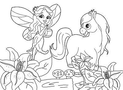 Livre De Coloriage Pour Enfants Fees Et Poneys Enfants 4 A 8 Ans Eur 6 90 Picclick Fr
