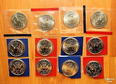 1968-1981 1984-1999 P D Kennedy Half Dollars BU Mint Cello Set Run 57 Coins