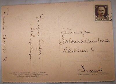 Cartolina Terracina - Lungomare - Viaggiata 1942 - 9/17 2